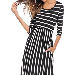 Dresses & Skirts - Midi striped dress